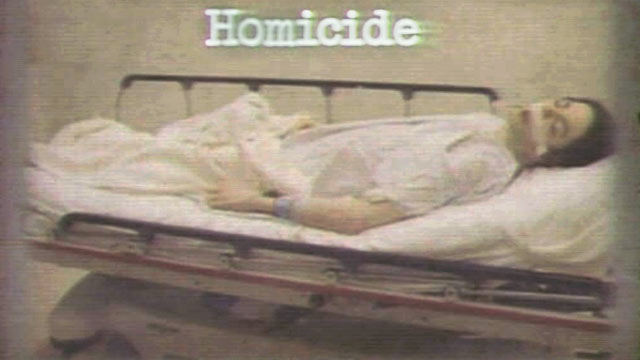 PHOTO:Dr. Conrad Murray's trial started with the District Attorney showing a picture of a dead Michael Jackson lying on a gurney with his mouth open, eyes closed and tape over space between his lips and nose.