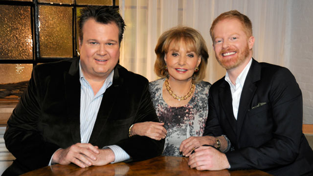 """PHOTO: Eric Stonestreet and Jesse Tyler Ferguson, stars of """"Modern Family,"""" made the list of Barbara Walters """"10 Most Fascinating People of 2011."""""""