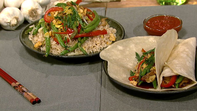 PHOTO: Daphne Oz's moo shu vegetables are shown here.