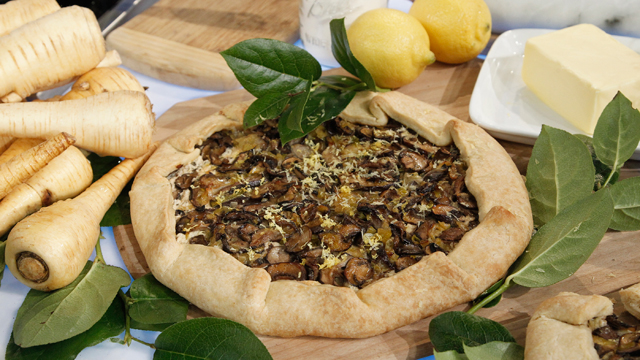 PHOTO: Carla Hall's mushroom tart is shown here.