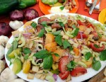 PHOTO: Mario Batalis panzanella salad is shown here.