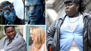 "PHOTO Clockwise from top left: Scenes from ""Avatar,"" ""Precious,"" and ""The Blindside"" are shown."