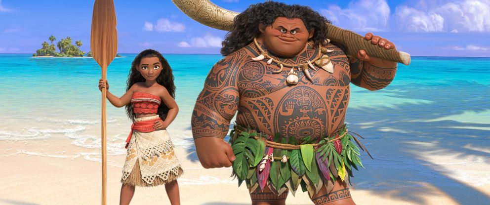"""PHOTO: Walt Disney Animation Studios upcoming big-screen adventure, a spirited teenager named Moana, left, sails out on a daring mission to prove herself a master wayfinder in """"Moana."""""""