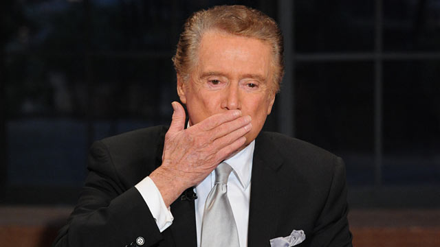 """PHOTO: Regis Philbin signs off """"Live!"""" after 28 years."""