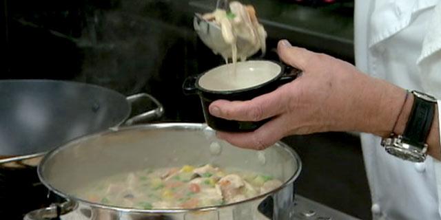 Oscars Dish Wolfgang Pucks Savory Chicken Pot Pie Recipe Abc News