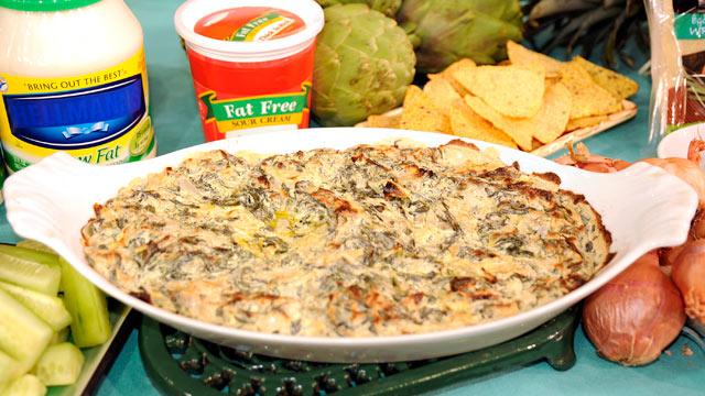PHOTO: Creamy Spinach Artichoke Dip.