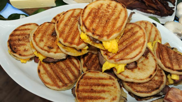 PHOTO: Emeril Lagasse's steak and egg panini is shown here.