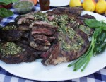 PHOTO: Marcus Samuelssons grilled rib eye on the bone is shown here.