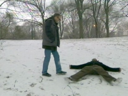 "VIDEO: Joaquin Phoenix goes crazy over snow angels in ""Im Still Here."""