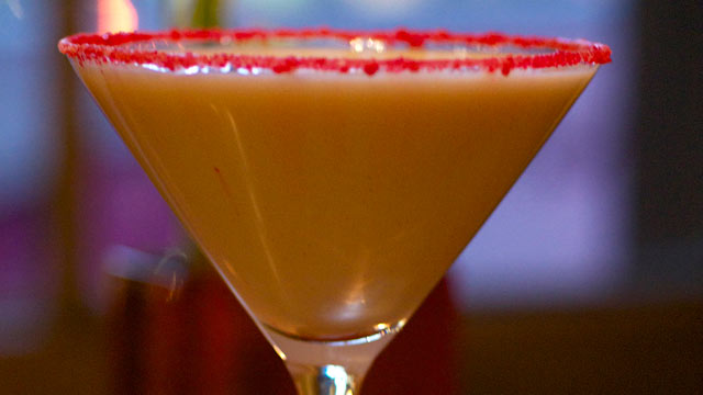 PHOTO: Justin Bogle and Patrick Cappiello's white chocolate and cinnamon martini is shown here.