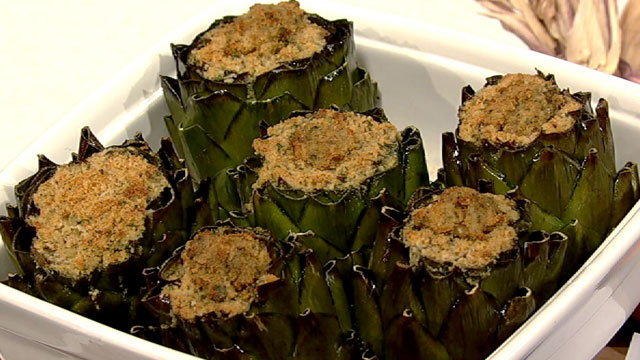 PHOTO: Daphne Oz's stuffed artichoke recipe is shown here.