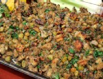 PHOTO: Sandra Lees golden raising and walnut stuffing is shown here.