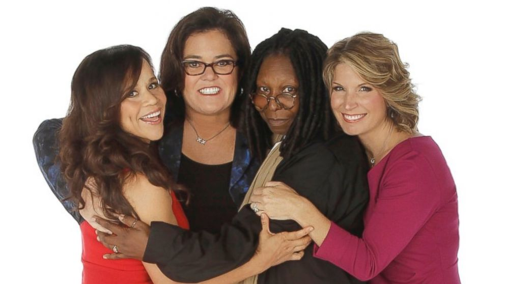 """Rosie Perez, left, and Nicolle Wallace, right, are the new co-hosts of """"The View,"""" joining Whoopi Goldberg and Rosie O'Donnell."""