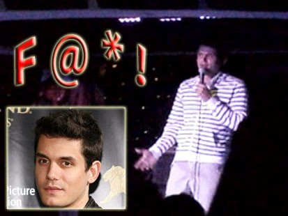 VIDEO: John Mayer curses on cruise ship.