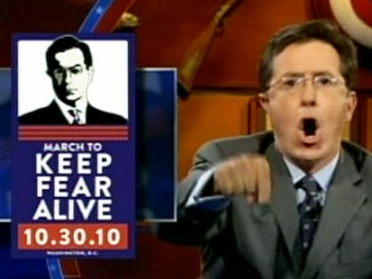 VIDEO: Jon Stewart and Stephen Colbert have fun at the expense of Glenn Becks rallies.
