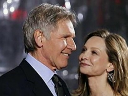 VIDEO: Harrison Ford weds Calista Flockhart at a surprise ceremony in New Mexico.