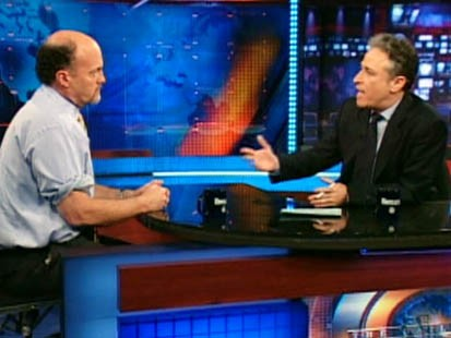 VIDEO: Jon Stewart interview Jim CRamer on The Daily Show.