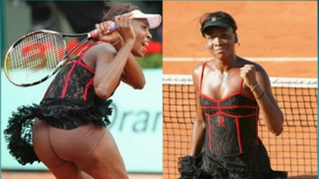 Serena venus williams wardrobe malfunction
