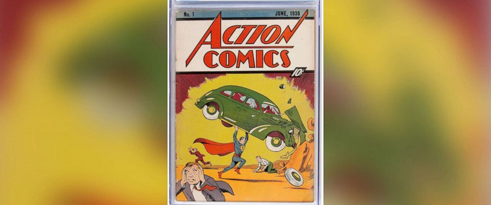 PHOTO: A copy of the first comic book to feature Superman is going up for sale, Action Comics #1, 1938.