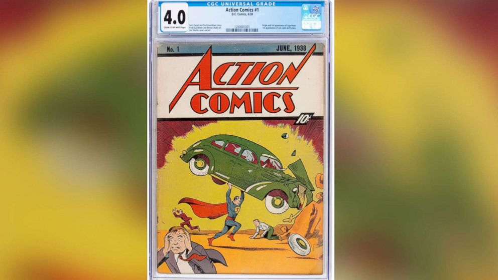 A copy of the first comic book to feature Superman is going up for sale, Action Comics #1, 1938.