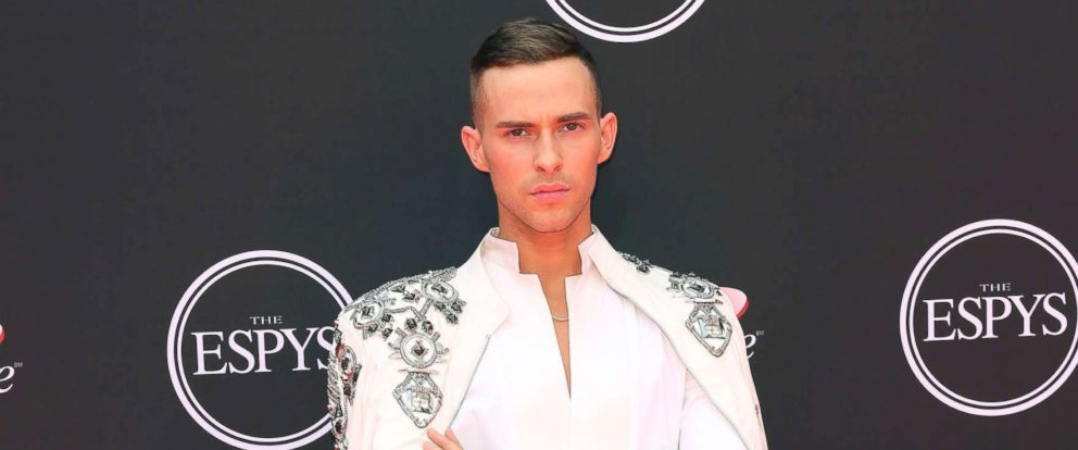PHOTO: Adam Rippon arrives at the ESPY Awards at Microsoft Theater, July 18, 2018, in Los Angeles.