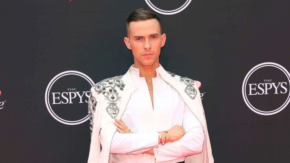 Adam Rippon arrives at the ESPY Awards at Microsoft Theater, July 18, 2018, in Los Angeles.