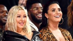 PHOTO: Christina Aguilera and Demi Lovato during the 2018 Billboard Music Awards at on May 20, 2018, in Las Vegas.