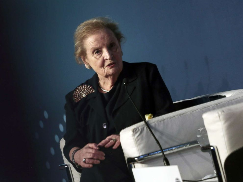 PHOTO: Madeleine Albright, former Secretary of State, speaks during an Atlantic Council event in Buenos Aires, Argentina, Dec. 7, 2017.