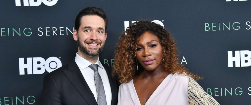 PHOTO: Alexis Ohanian and Serena Williams attend the HBO New York Premiere of Being Serena at Time Warner Center, April 25, 2018, in New York.