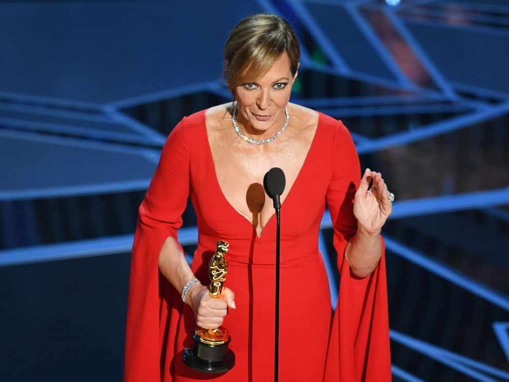 PHOTO: Allison Janney accepts Best Supporting Actress for I, Tonya onstage during the 90th Annual Academy Awards at the Dolby Theatre at Hollywood & Highland Center on March 4, 2018 in Hollywood, California.