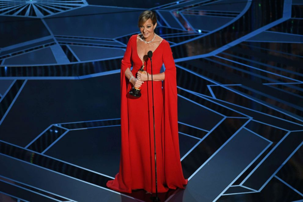 PHOTO: Allison Janney accepts Best Supporting Actress for I, Tonya onstage during the 90th Annual Academy Awards at the Dolby Theatre at Hollywood & Highland Center, March 4, 2018, in Hollywood, California.