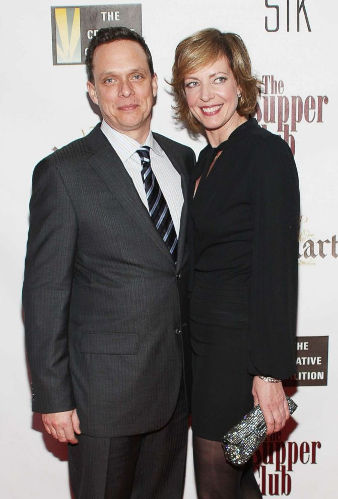 PHOTO: Allison Janney and her brother Hal attend the Fox Searchlight Pictures Oscar & Independent Spirit Award Party, Feb. 22, 2008, in Los Angeles, California.