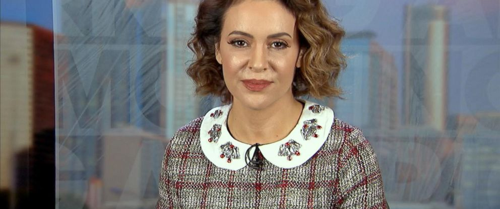 """PHOTO: Actress Alyssa Milano opens up about the #MeToo campaign on """"Good Morning America,"""" Oct. 19, 2017."""