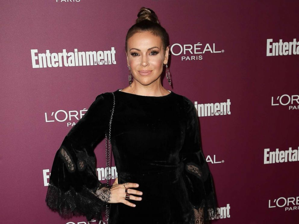 PHOTO: Alyssa Milano attends the Entertainment Weeklys 2017 Pre-Emmy Party at the Sunset Tower Hotel, Sept. 15, 2017, in West Hollywood, Calif.