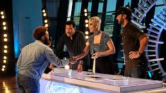 "PHOTO: Judges Lionel Richie, Katy Perry and Luke Bryan greet Dominique of Birmingham, Ala., during auditions for ""American Idol"" in an episode that aired on March 19, 2018."