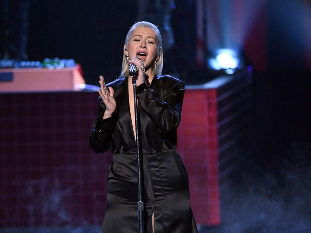 PHOTO: Christina Aguilera performs during the 2017 American Music Awards at Microsoft Theater, Nov. 19, 2017, in Los Angeles.