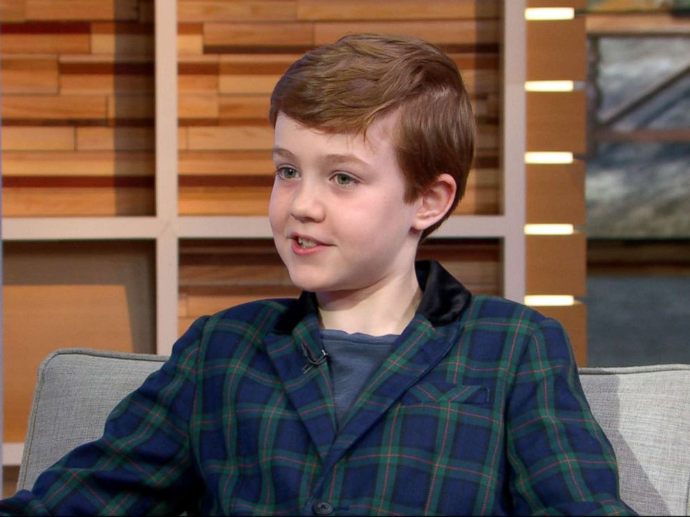 PHOTO: Ames McNamara, who plays Darlenes son, Mark on the reboot of Roseanne, stopped by ABCs Good Morning America April 3, 2018.