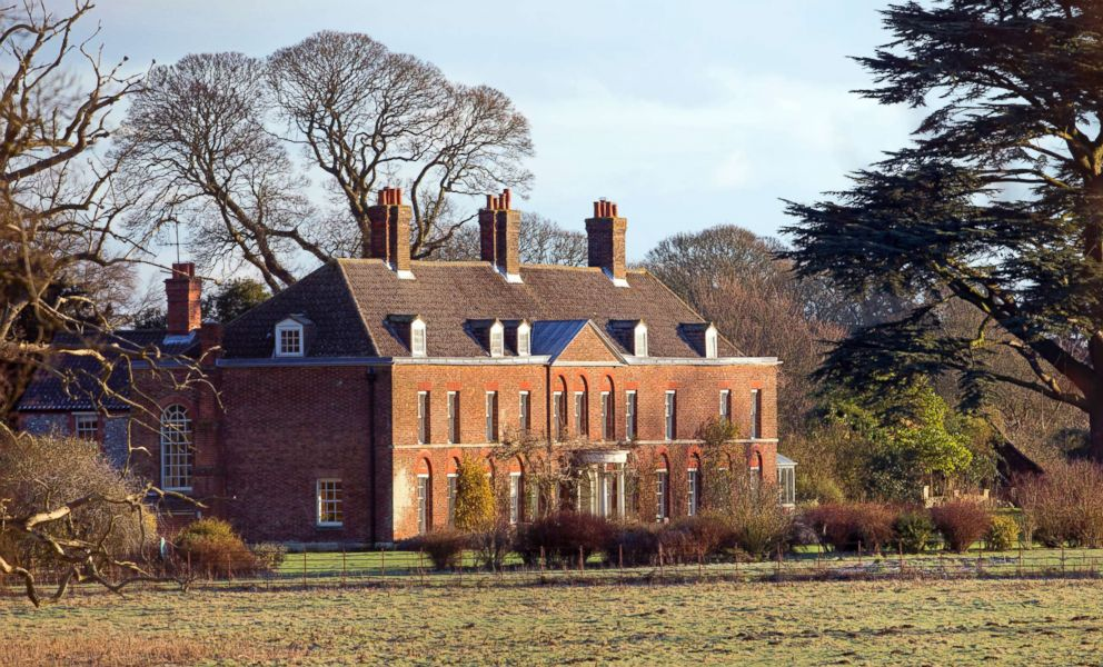 PHOTO: A general view of the front of Anmer Hall on the Sandringham Estate is pictured on Jan. 13, 2013 in Kings Lynn, England.