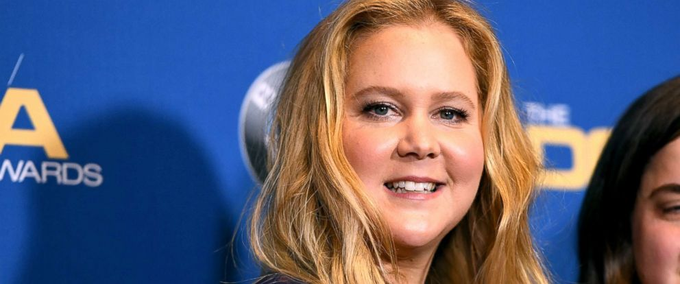 PHOTO: Amy Schumer poses in the press room at the 2018 DGA Awards at the Beverly Hilton, Feb. 3, 2018, in Beverly Hills, Calif.