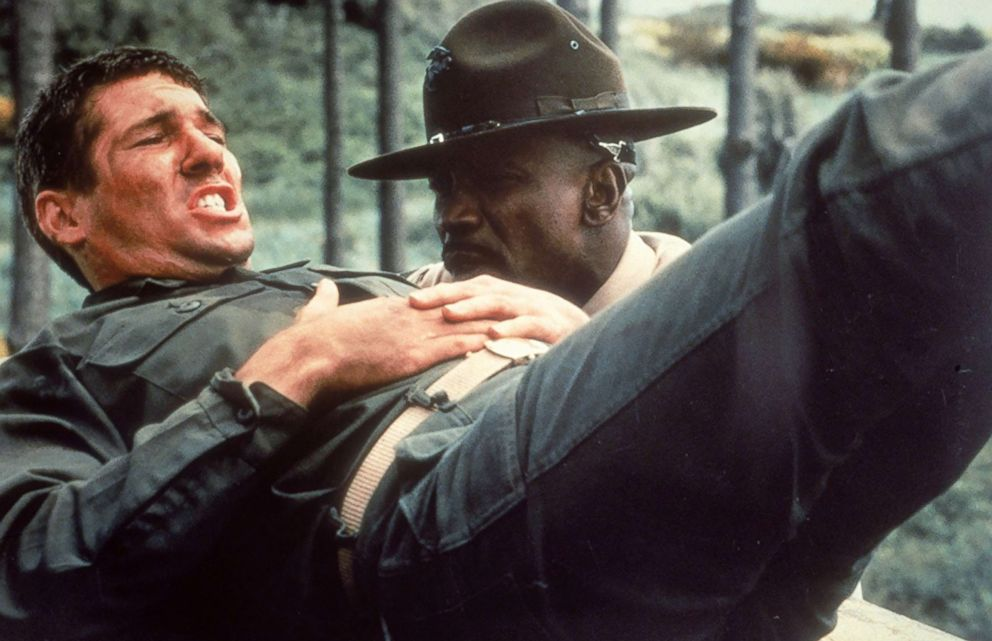 PHOTO: Richard Gere and Louis Gossett Jr. appear in a scene from in An Officer and a Gentleman.