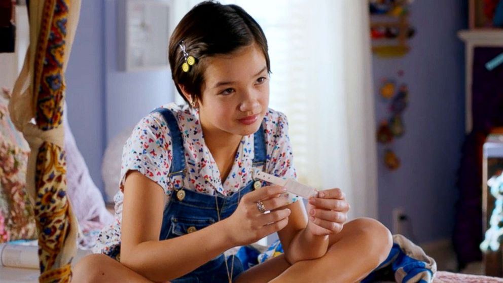 "Peyton Elizabeth Lee in a scene from Disney Channel's ""Andi Mack."""