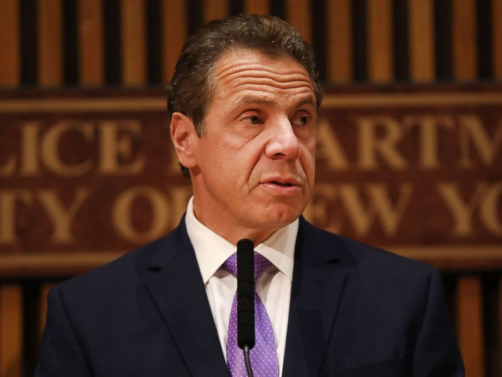 PHOTO: New York Governor Andrew Cuomo speaks during a news conference concerning yesterdays attack along a bike path in lower Manhattan that is being called a terrorist incident, Nov. 1, 2017 in New York City.