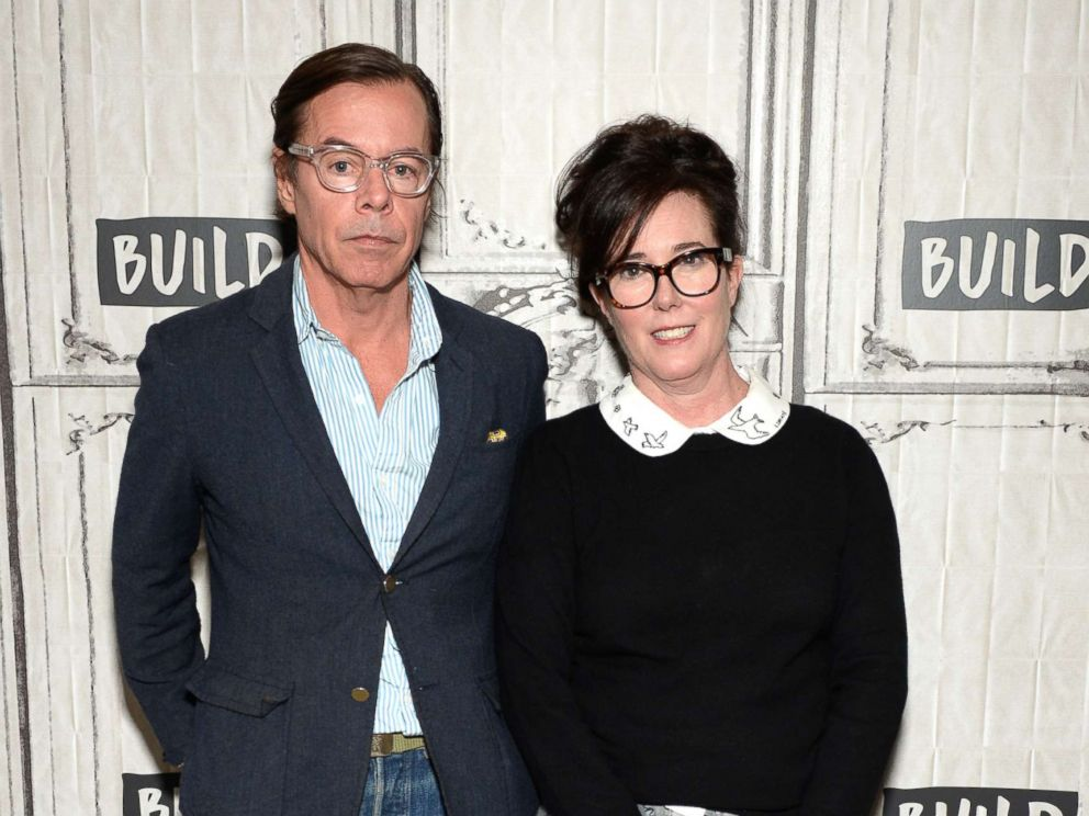 PHOTO: Designers Andy Spade and Kate Spade attend AOL Build Series to discuss their latest project Frances Valentine at Build Studio on April 28, 2017 in New York City.