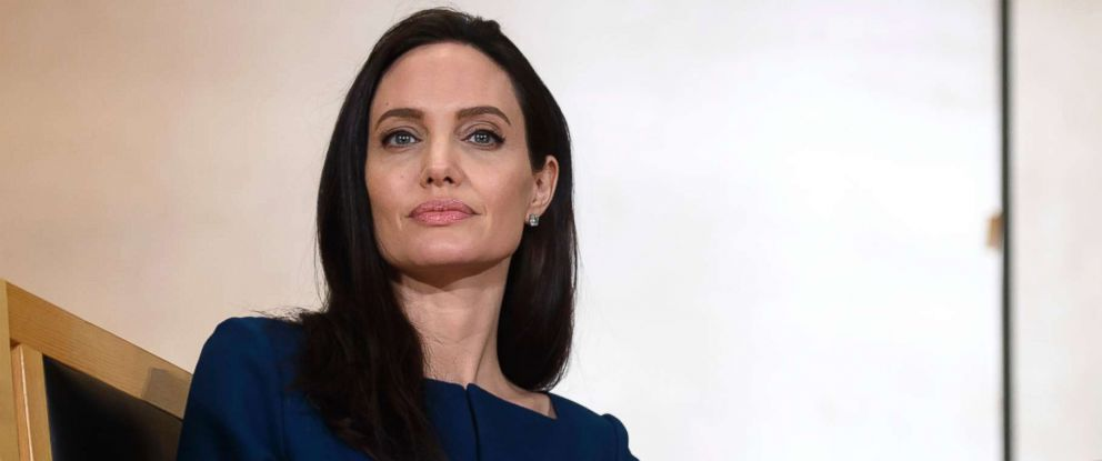 PHOTO: United Nations High Commissioner for Refugees (UNHCR) Goodwill Ambassador American actress Angelina Jolie at the European headquarters of the United Nations in Geneva, Switzerland, March 15, 2017.