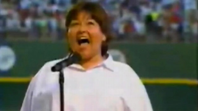 """VIDEO: The comedienne set the bar at a new low when she performed """"The Star-Spangled Banner"""" in 1990."""