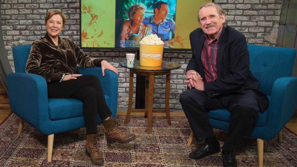 """Annette Bening appears on """"Popcorn with Peter Travers"""" at ABC News studios, Dec. 13, 2017, in New York City."""