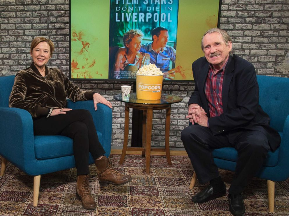 PHOTO: Annette Bening appears on Popcorn with Peter Travers at ABC News studios, Dec. 13, 2017, in New York City.