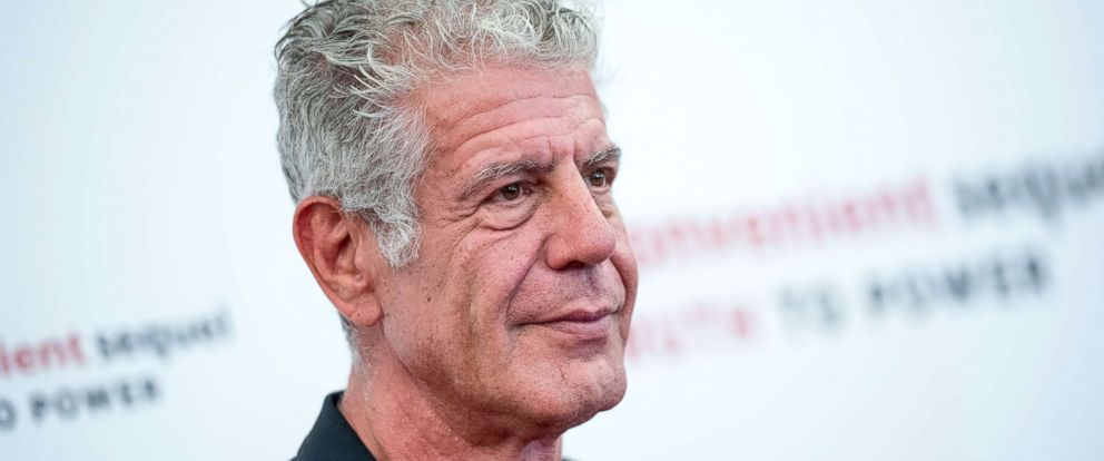 "PHOTO: Anthony Bourdain attends ""An Inconvenient Sequel: Truth To Power"" New York screening at the Whitby Hotel, July 17, 2017, in New York City."