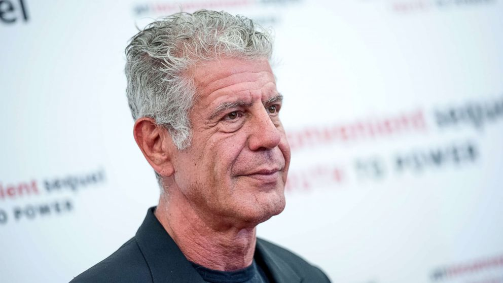 "Anthony Bourdain attends ""An Inconvenient Sequel: Truth To Power"" New York screening at the Whitby Hotel, July 17, 2017, in New York City."