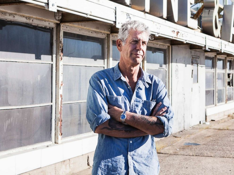 PHOTO: Anthony Bourdain on Pier 57 in New York, Sept. 20, 2015.